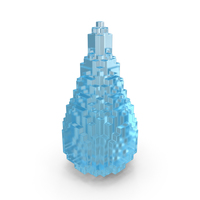 Drop Liquid Voxelated PNG & PSD Images