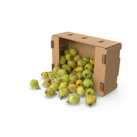 Spilled Box of Taylor's Gold Pears PNG & PSD Images