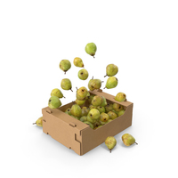 Box With Taylors Gold Pear Flying PNG & PSD Images
