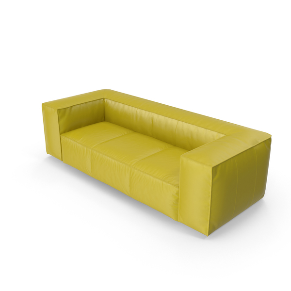 Chartreuse Leather Sofa PNG & PSD Images