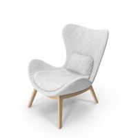 White Armchair PNG & PSD Images