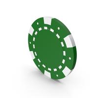 Green Poker Token PNG & PSD Images