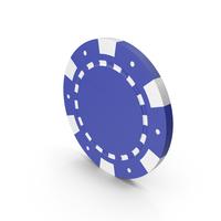 Blue Poker Token PNG & PSD Images