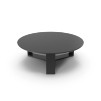 Round Coffee Table Black PNG & PSD Images