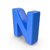 Blue Letter N PNG & PSD Images