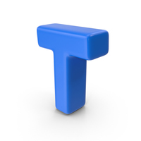 Blue Letter T PNG & PSD Images