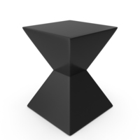 Rocco End Table in High Gloss Black PNG & PSD Images