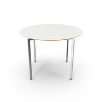 White Trippo Table PNG & PSD Images
