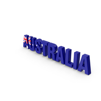 Australia Text PNG & PSD Images