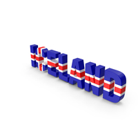 Iceland Text PNG & PSD Images