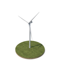 Wind Turbine on Ground PNG & PSD Images