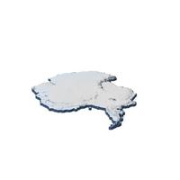 Antarctica Continent Map PNG & PSD Images