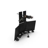 M2HB Machine Gun with Tripod PNG & PSD Images