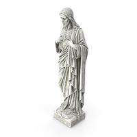 Jesus Christ Sacred Heart Statue PNG & PSD Images
