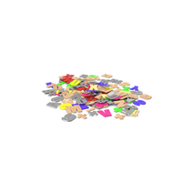 Pile of Letters Numbers and Symbols PNG & PSD Images