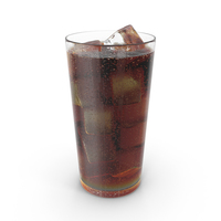 Cola with Droplets PNG & PSD Images