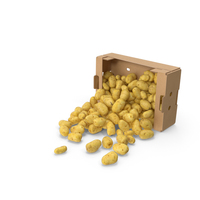 Spilled Box of Potatoes PNG & PSD Images