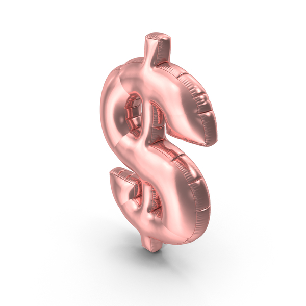 Foil Balloon Dollar Pink PNG & PSD Images