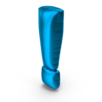 Blue Exclamation Balloon PNG & PSD Images