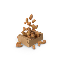 Box With Sweet Potatoes PNG & PSD Images