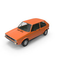 Classic European Compact Car PNG & PSD Images