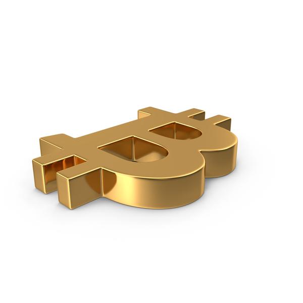 Gold Bitcoin Symbol PNG & PSD Images