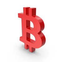 Red Bitcoin Symbol PNG & PSD Images