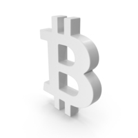 White Bitcoin Symbol PNG & PSD Images