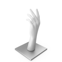 White Hand on Metal Base PNG & PSD Images