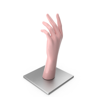 Pink Hand on Metal Base PNG & PSD Images