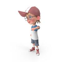 Cartoon Boy Cheering PNG & PSD Images