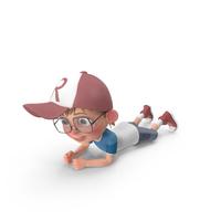 Cartoon Boy Crawling PNG & PSD Images