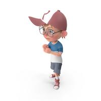 Cartoon Boy Guarding PNG & PSD Images