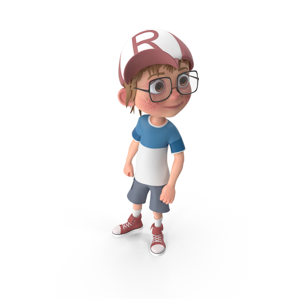 Cartoon Boy Looking Left PNG & PSD Images