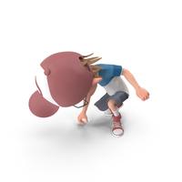 Cartoon Boy Picking Up PNG & PSD Images