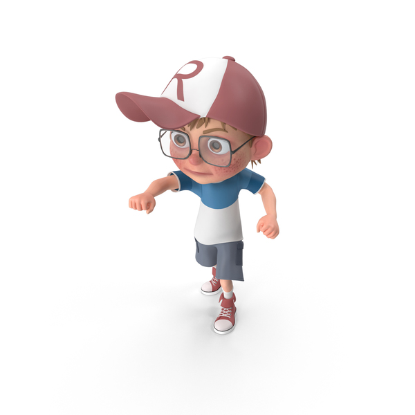 Cartoon Boy Punching PNG & PSD Images