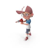 Cartoon Boy Shooting PNG & PSD Images