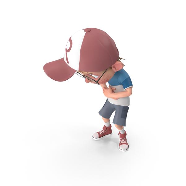 Cartoon Boy Stomach Ache PNG & PSD Images