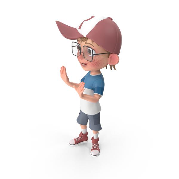 Cartoon Boy Talking PNG & PSD Images
