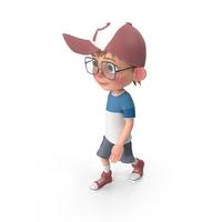 Cartoon Boy Walking PNG & PSD Images