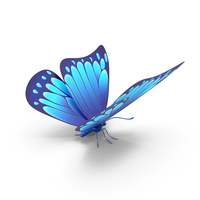 Blue Butterfly PNG & PSD Images