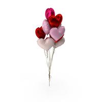 Heart Balloon Bouquet PNG & PSD Images