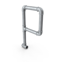 Galvanized Pipe Letter P PNG & PSD Images