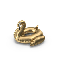 Gold Swan Pool Float PNG & PSD Images
