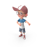 Cartoon Boy Direct Attention PNG & PSD Images