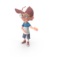 Cartoon Boy Showing PNG & PSD Images