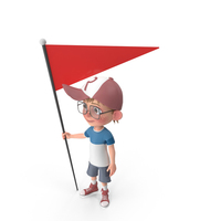 Cartoon Boy At Checkpoint PNG & PSD Images