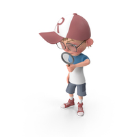 Cartoon Boy Searching PNG & PSD Images