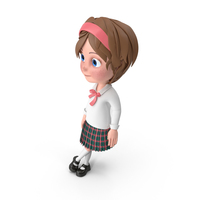Cartoon Girl Leaning On Wall PNG & PSD Images