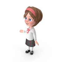 Cartoon Girl Talking PNG & PSD Images